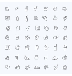 Fast food outline icons set Cooking vector image vector image