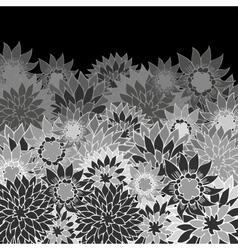 floral back vector image
