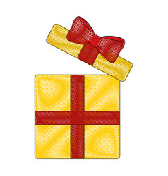 Gift box cartoon vector