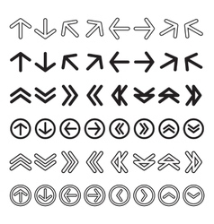 Icon arrow set vector