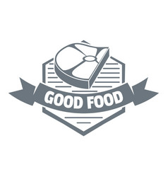 meat good food logo simple style vector image vector image