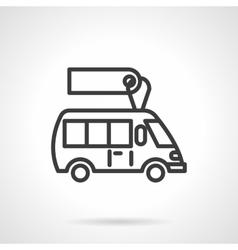 Minibus for sale black line design icon vector