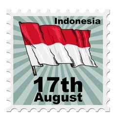 National day of indonesia vector