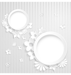 Paper flowers with two rings vector