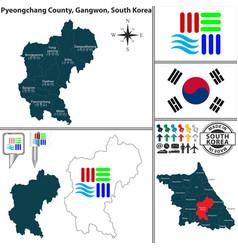 pyeongchang county in gangwon south korea vector image