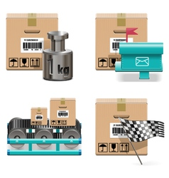 Shipment Icons Set 17 vector image