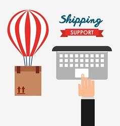 Shipping logistics of merchandise design vector