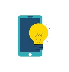 smartphone technology with seo icon vector image vector image