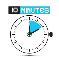 Ten Minutes Stop Watch - Clock vector image vector image