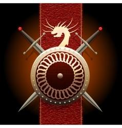The dragon shield vector