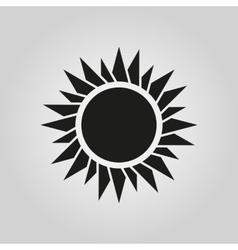 The sun icon Sunrise and sunshine weather symbol vector image vector image