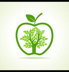 Tree inside the apple vector