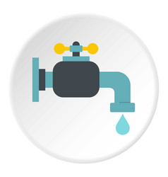 Water tap icon circle vector