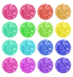 Watercolor colorful circles isolated on white vector image