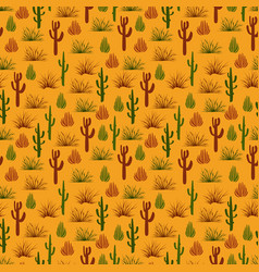 wild nature desert seamless pattern vector image