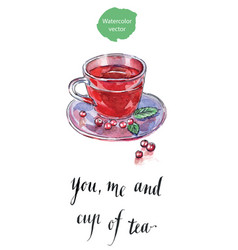 you me and cup of tea vector image vector image