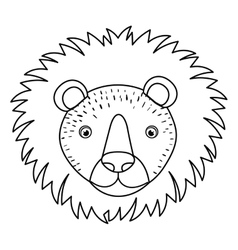 Lion animal cartoon design vector