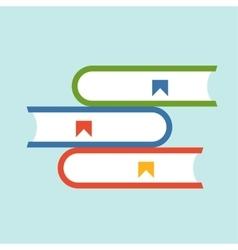 Books flat icon vector image