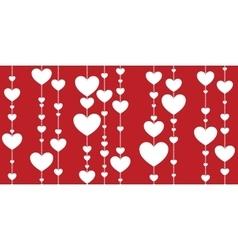 Seamless decorative hearts vector