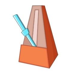 Metronome icon cartoon style vector