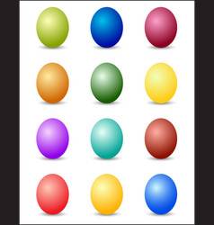 Easter eggs color spectrum background vector