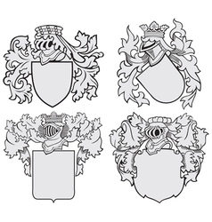 Set of aristocratic emblems no10 vector