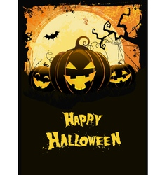 Halloween pumpkin card vector