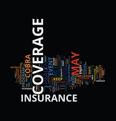 Lost your job how to keep your insurance coverage vector