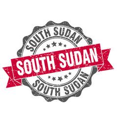 South sudan round ribbon seal vector