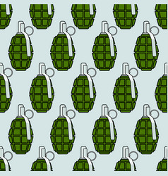 military grenade pattern vector image