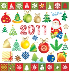 New year design elements vector
