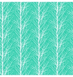 Pattern with trees silhouettes vector