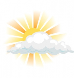 sun and cloud illustration vector image