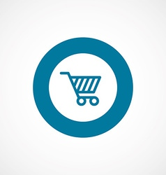 Shopping cart bold blue border circle icon vector