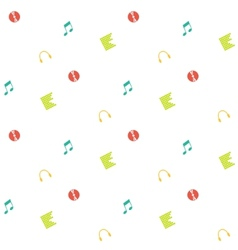 Clean and simple musical seamless pattern in flat vector