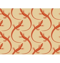 Lizards seamless wallpaper pattern vector