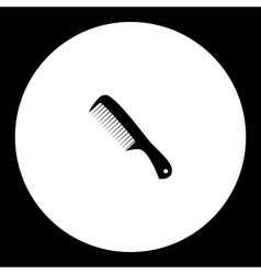 Hair brush hairdresser and beauty simple icon vector