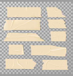adhesive sticky tape isolated on transparent vector image