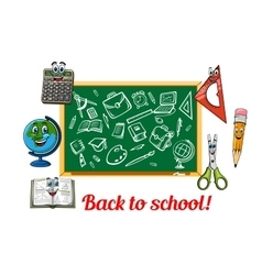 Back to school theme design with stationery items vector image vector image