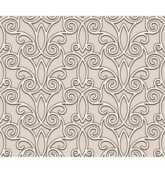 Beige lace pattern vector