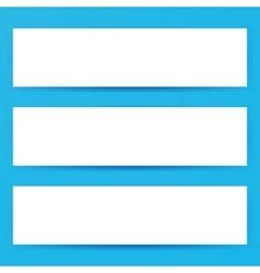 Blank Horizontal Web Banners Mockup vector image