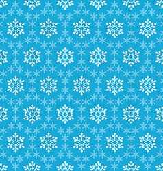 Blue seamless snowflake pattern vector image vector image