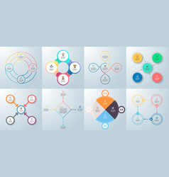 business infographics diagrams with 4 steps vector image