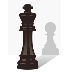 chess king with the shadow of a pawn vector image