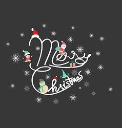 Christmas typographic background vector