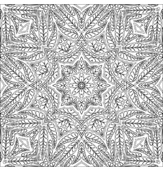 Coloring page ornamental pattern vector image