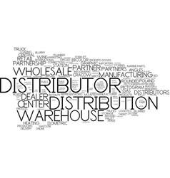 Distributor word cloud concept vector
