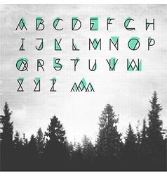 Hipster alphabet vector