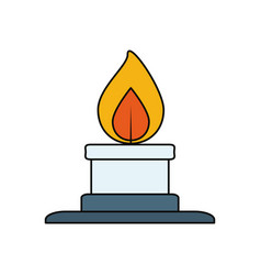 Lab burner isolated vector