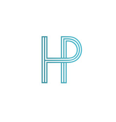 letter h p logo icon design template elements vector image vector image
